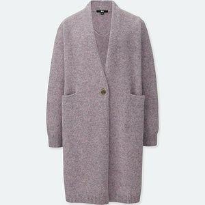 Uniqlo 100% Melange Wool Coatigan Coat Cardigan S